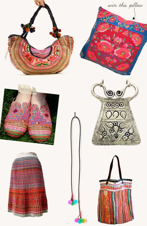 Hmong-Inspired + Giveaway   Bolsos, Bordado y Accesorios
