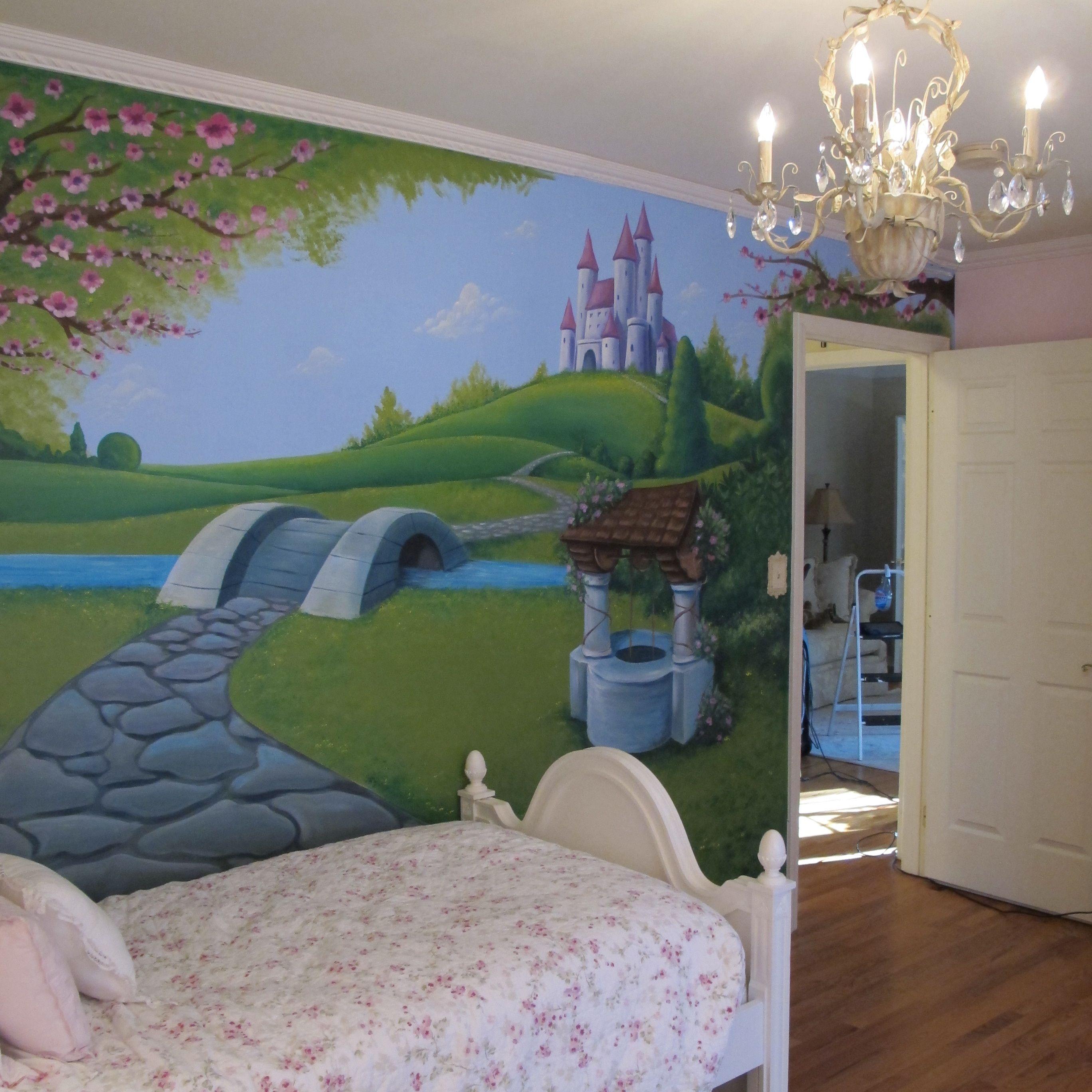 Girls Fairy Tale Mural A Little More Detail Than I Feel