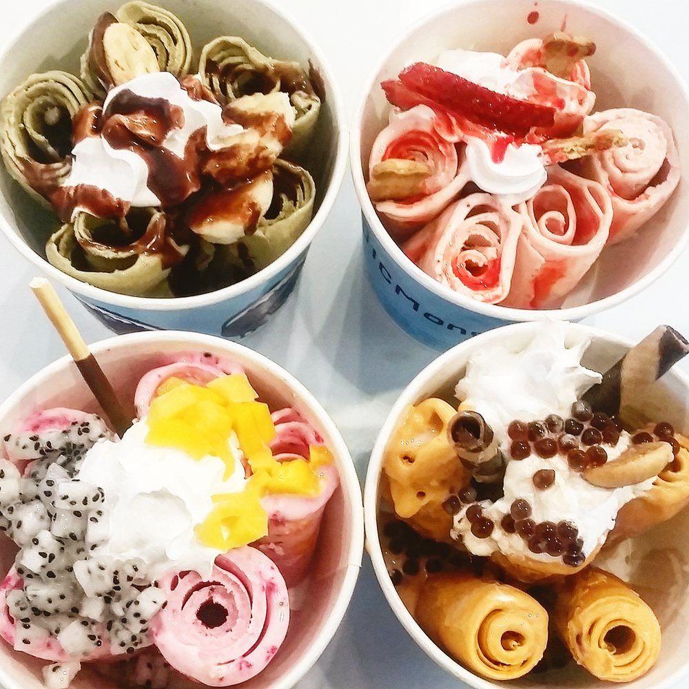 Just Opened Icmonster Ice Cream Rolls Into Town Roll Up Ice Cream Ice Cream Candy Best Ice Cream