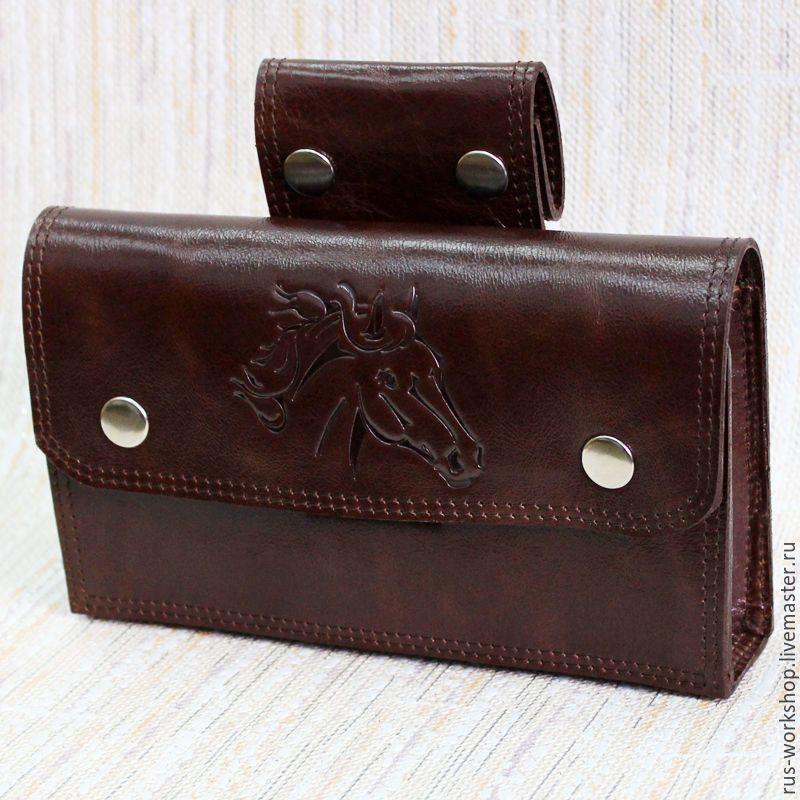 769596f2226a Мужские сумки ручной работы. Мужская кожаная сумка на ремень, сумка на  пояс. Rus