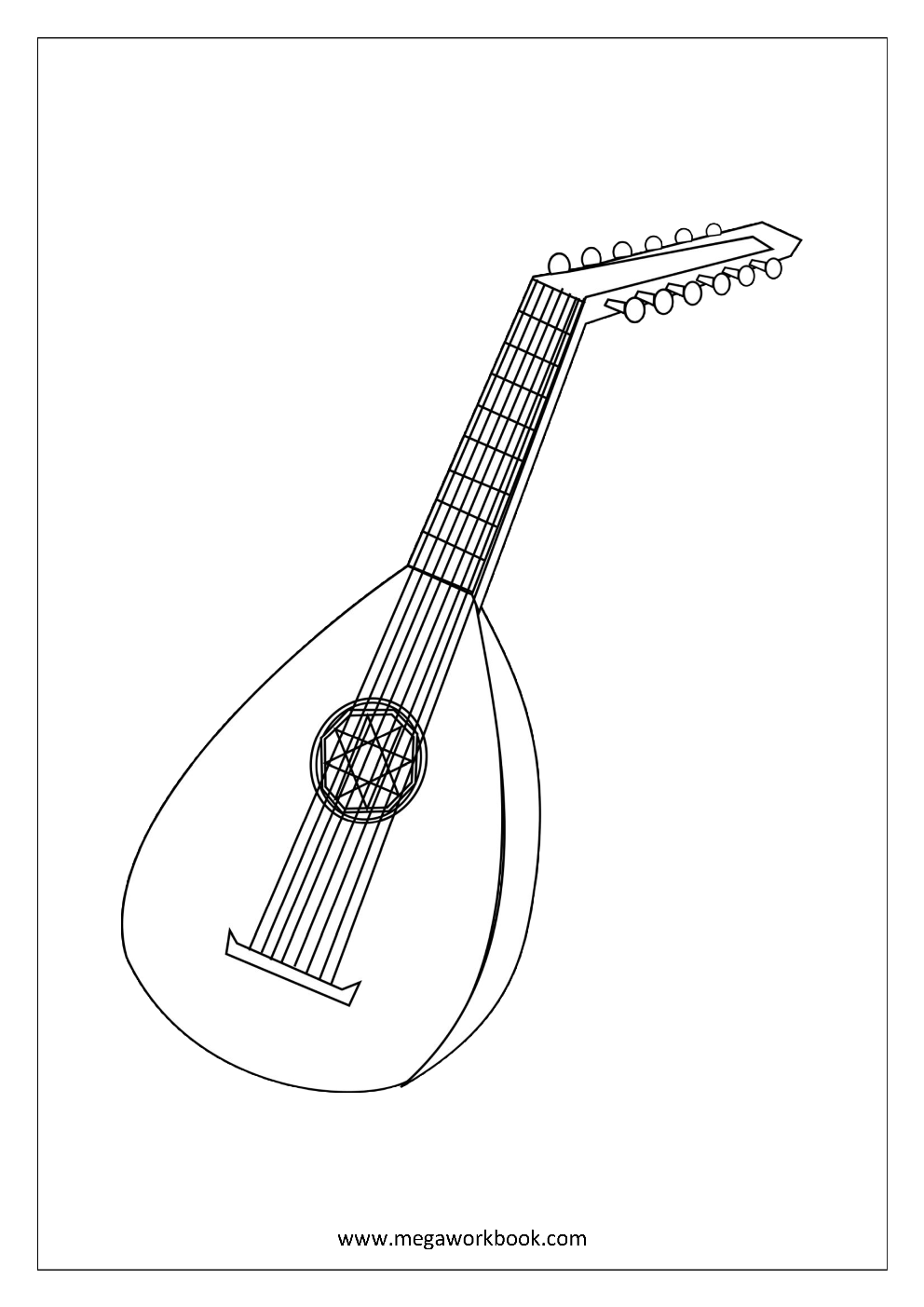 Coloring Sheets - Musical Instruments | Free coloring ...