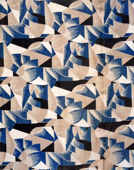 """Pierre Chareau, furnishing fabric, 1927. France. © V&A """" Chareau was a modernist architect who also designed furniture, particularly wood and metal pieces. """""""