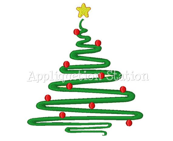 Christmas Tree Abstract Contemporary Machine Embroidery Design Etsy Machine Embroidery Patterns Machine Embroidery Designs Machine Embroidery