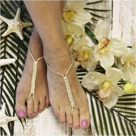 GLAMOROUS barefoot sandals - gold