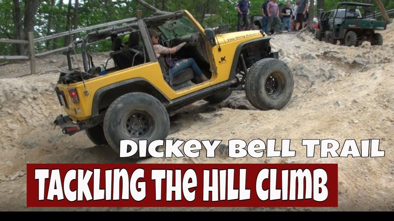 Off Road Cherokees Jeep Wranglers Tackle The Dickey Bell Trail