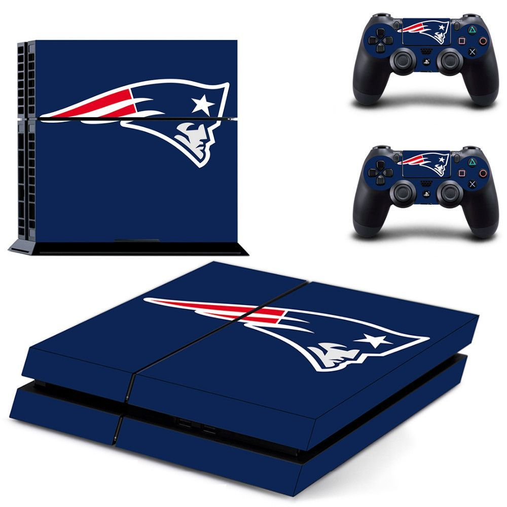 New England Patriots Ps4 Skin Anti Slip Decal Ps4 Skins Playstation 4 Console Patriots