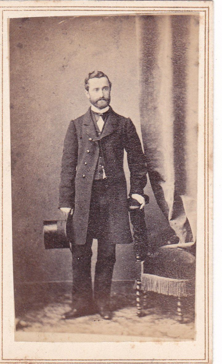 Post War Fashion Today 40s Fashion: Circa 1865 CDV Of A Good Looking Man In Long Coat With