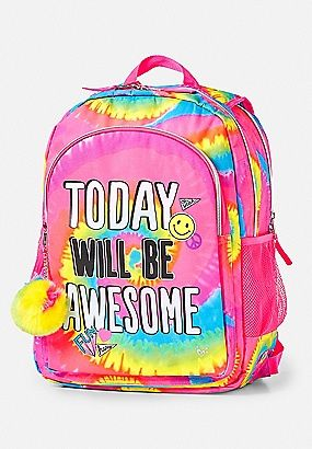 24ad16c4ca27 Today Will Be Awesome Tie Dye 2-Sided Backpack