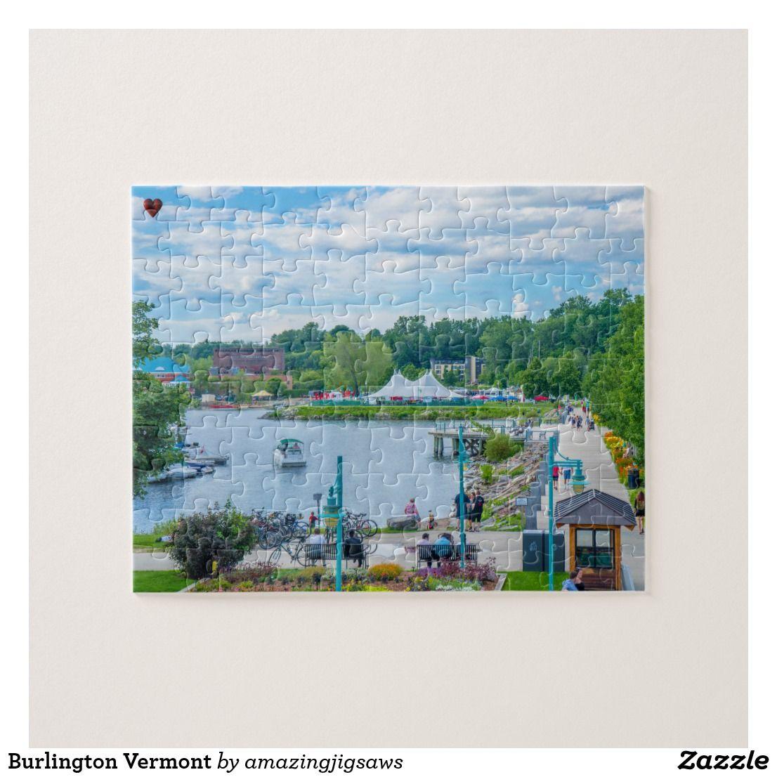 Burlington vermont jigsaw puzzle zazzlecouk