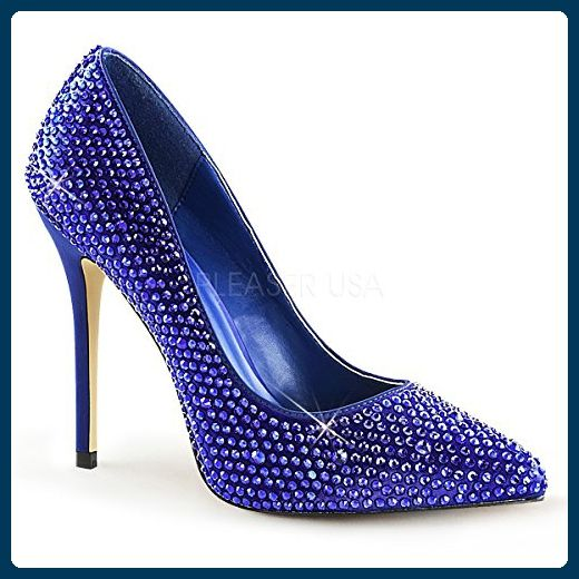 the best attitude 06822 e3079 PleaserUSA High Heels Strass-Pumps Amuse-20RS blau Gr.43 ...