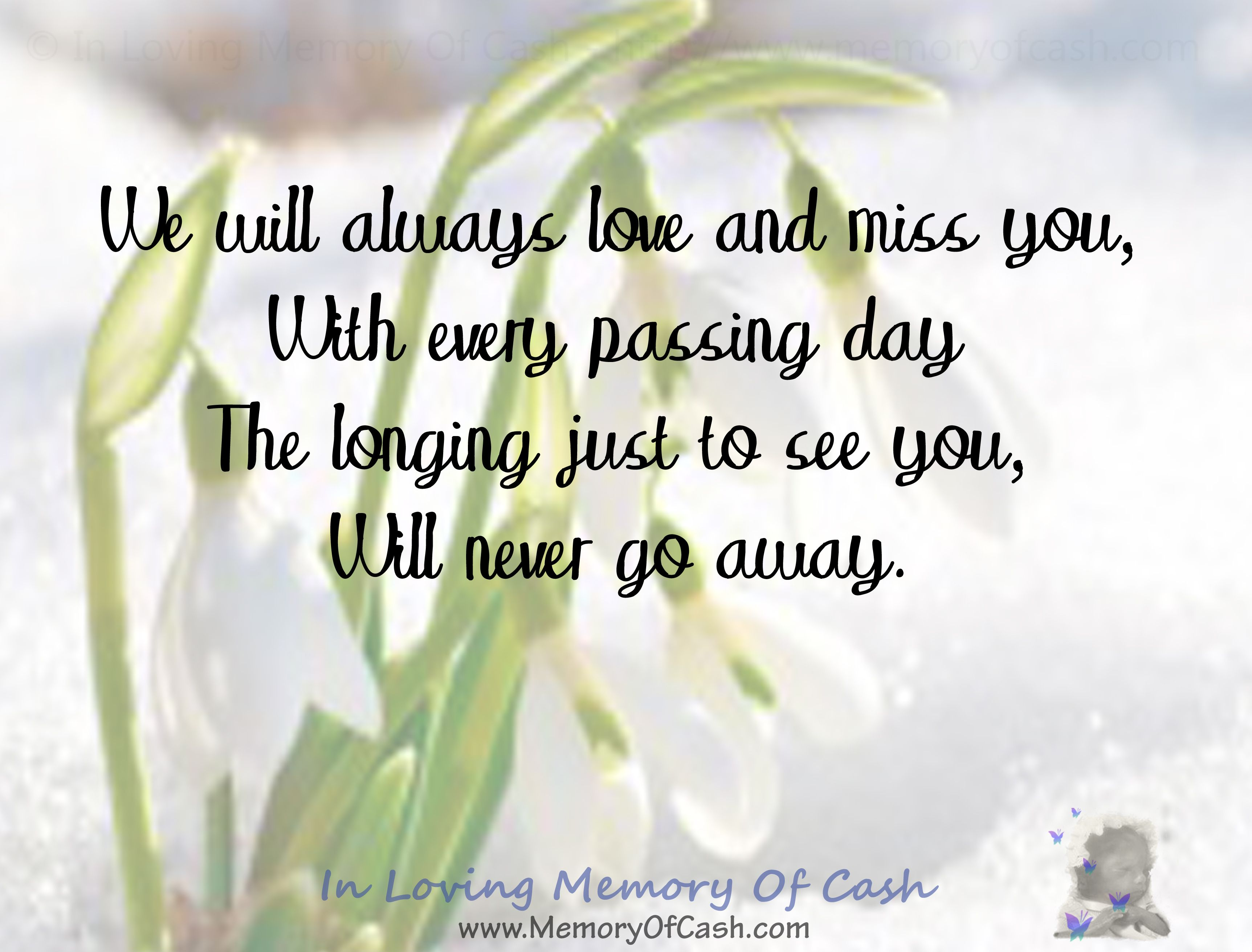 We Will Always Love And Miss You With Every Passing Day The Longing