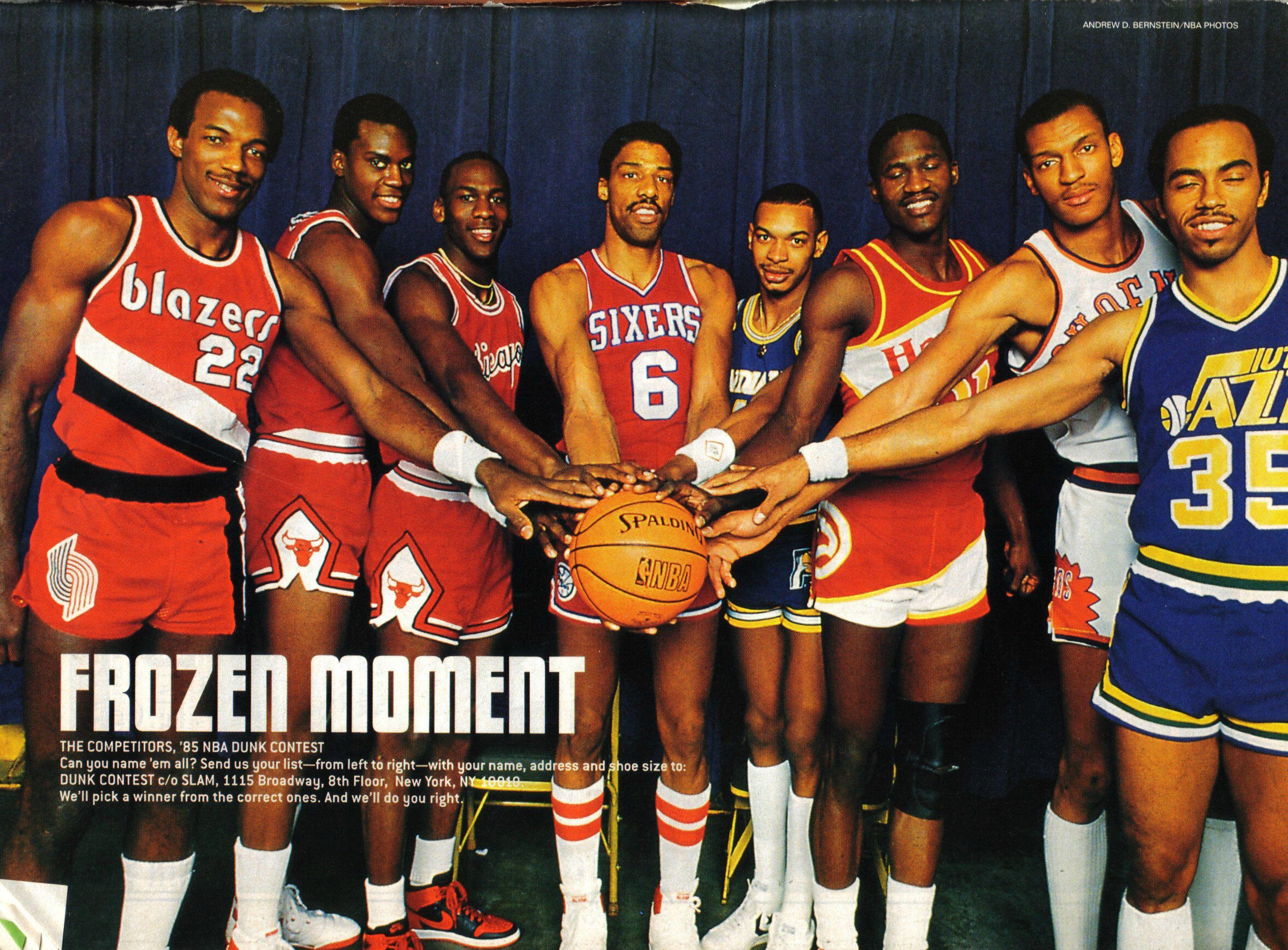 1985 NBA Dunk Contest with Clyde Drexler Orlando Woolridge