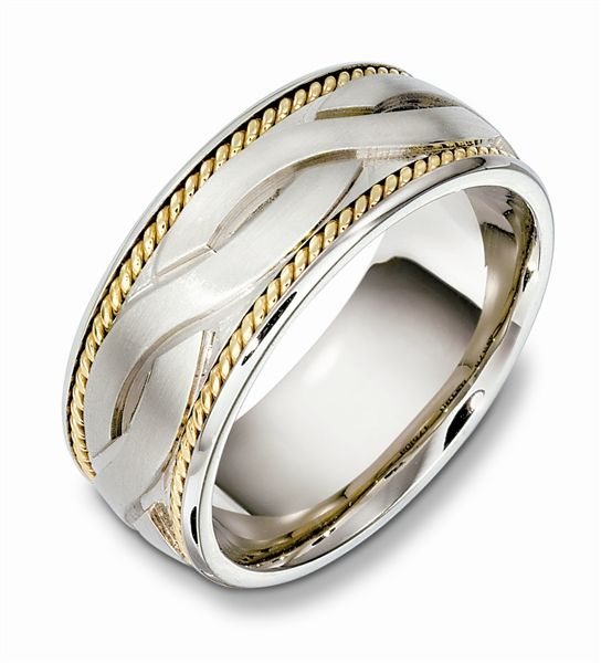 Men S Twisted Cable Wedding Band Wedding Rings