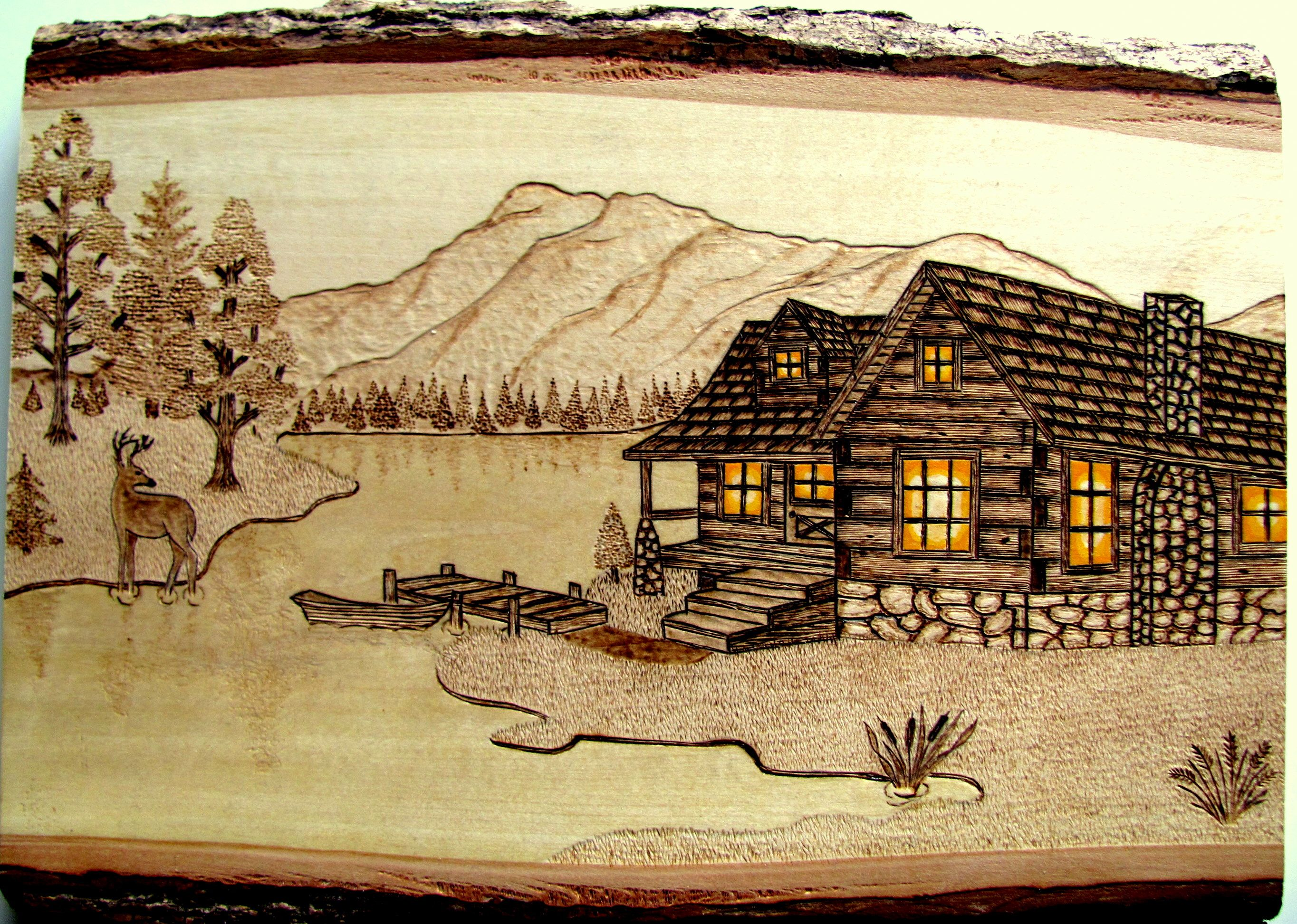 Burned On Basswood By Dave Coenen Pyrography Art Wood Burning Art Dot Art Painting