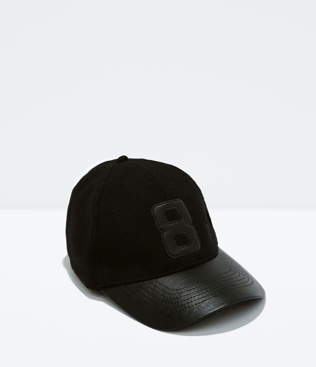 Image 1 of LETTER APPLIQUE HAT from Zara Sombreros Hombre 42ab742893b