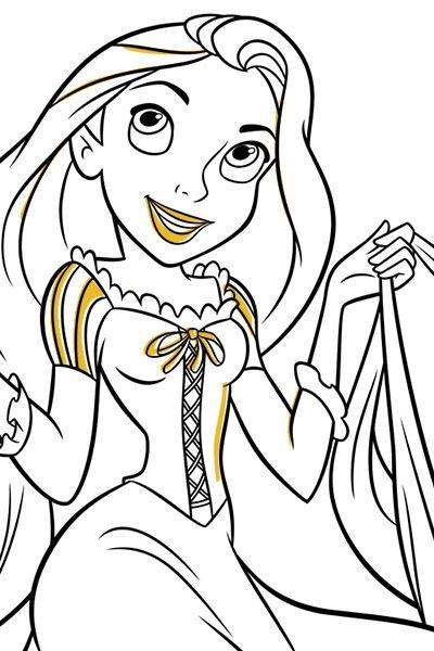 Lámina para colorear de Rapunzel 4   rapunze   Pinterest   Rapunzel ...
