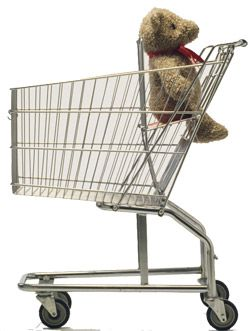 Shopping Cart Safety With Baby Never Put The Car Seat On Top Of Where An Older Child Would Sit