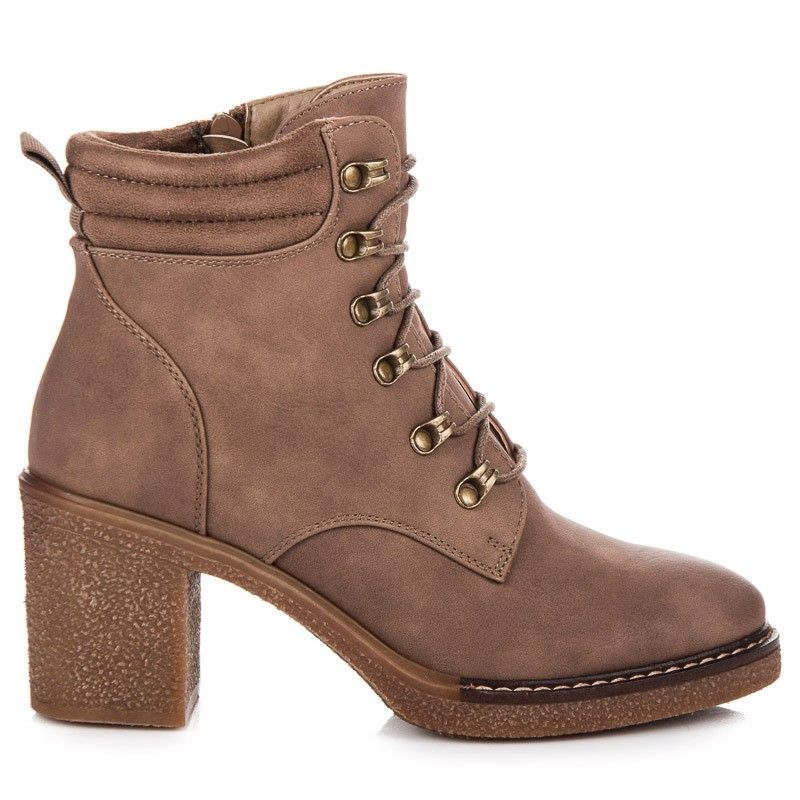 acdc145d8677 Šnurovacie topánky na podpätku 2873KH