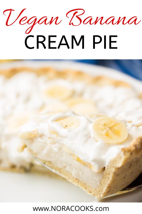 Vegan Banana Cream Pie Nora Cooks In 2020 Vegan Banana Banana Cream Pie Vegan Desserts