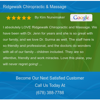 I absolutely LOVE Ridgewalk Chiropractic and Massage.  We have been with Dr. Jenn for...