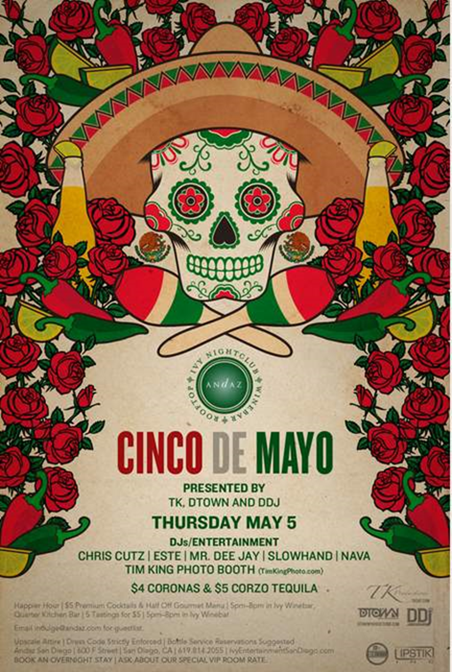 Ivy Nightclub Cinco de Mayo Party Flyer