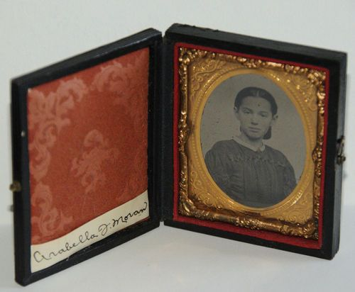 RARE 1 9th Plate Tintype Young Lady in Case Cheeks Colorized Identified   eBay