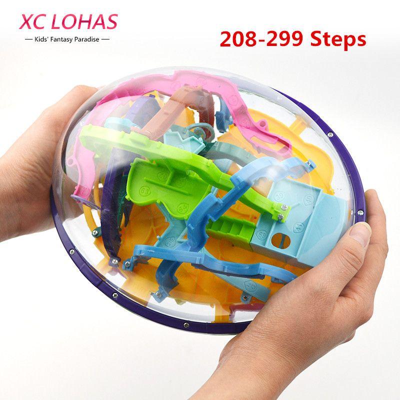208-299 단계 큰 크기 미로 볼 3d 마법 지능 볼 미로 iq puzzle 재미 균형 장난감 창조적 인 생일 선물
