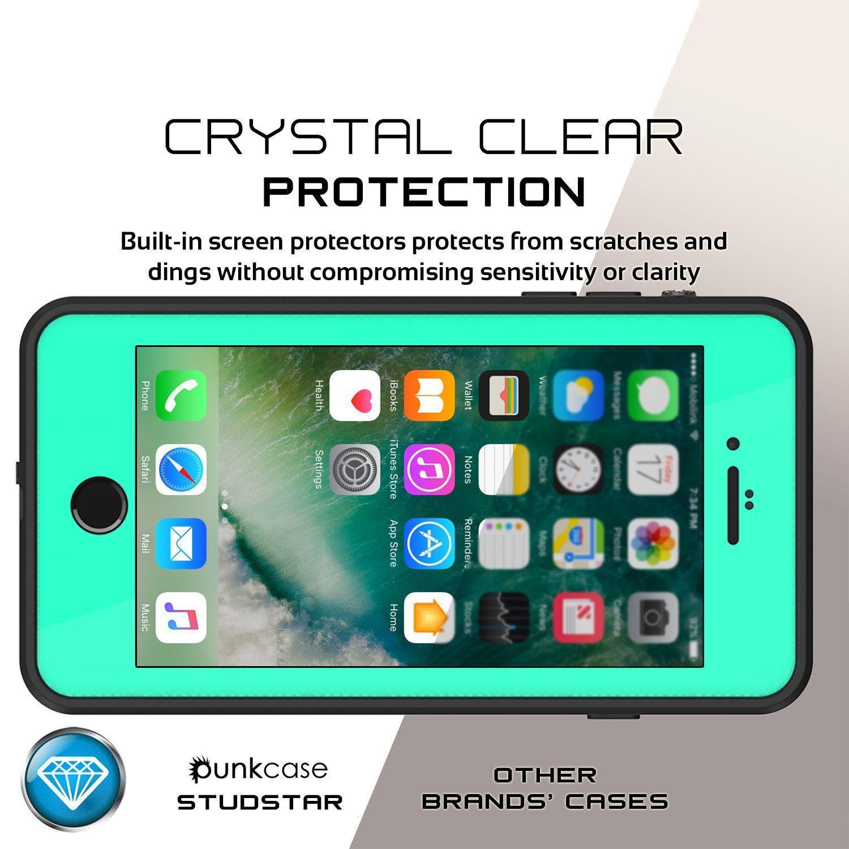 iPhone 8+ Plus Waterproof IP68 Case, Punkcase [Teal