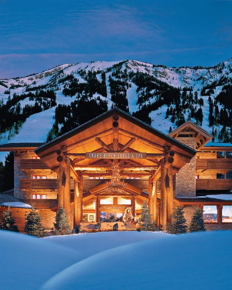 #JacksonHole #TetonVillage #SnakeRiverLodge and Spa - Located in Teton Village at the base of the Jackson Hole Mountain with spectacular views of the Gros Venture Mountain Range and the perfect ski vacation getaway. During summer and winter seasons, enjoy a range of activities including: skiing, snowboarding, dog sledding, horse drawn dinner sleigh rides, hiking, biking, fishing, golfing, and hot air balloon rides.