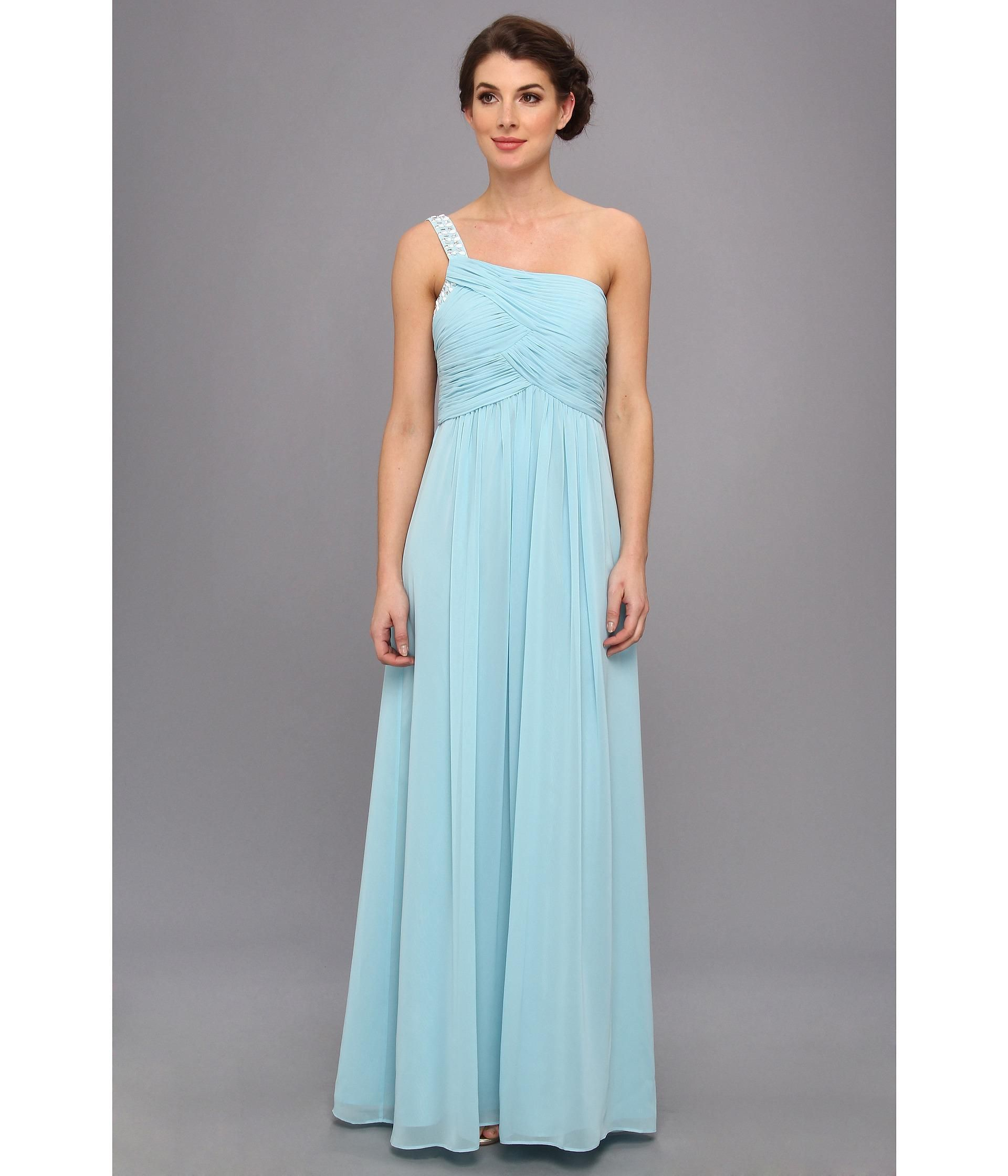 Light and airy chiffon dress with an exquisitely ruched and ...