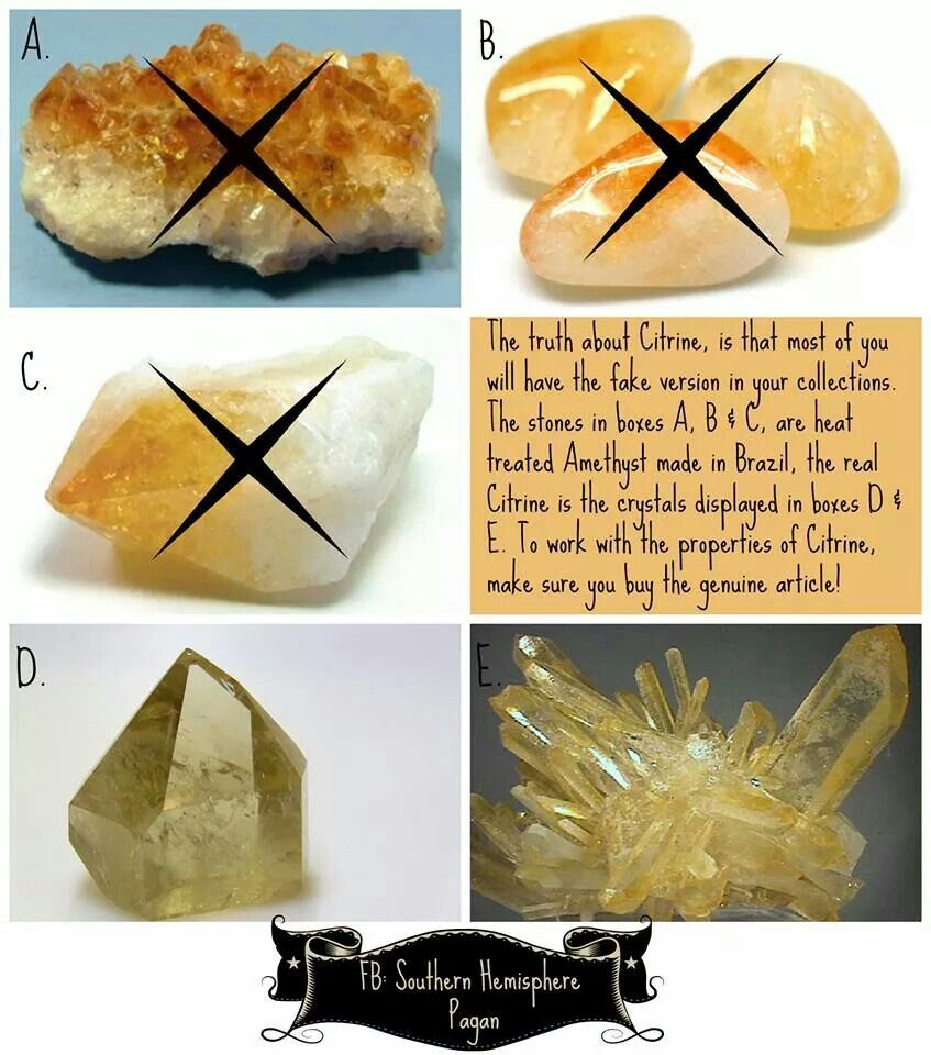 Fake citrine can be used in the place of real though its