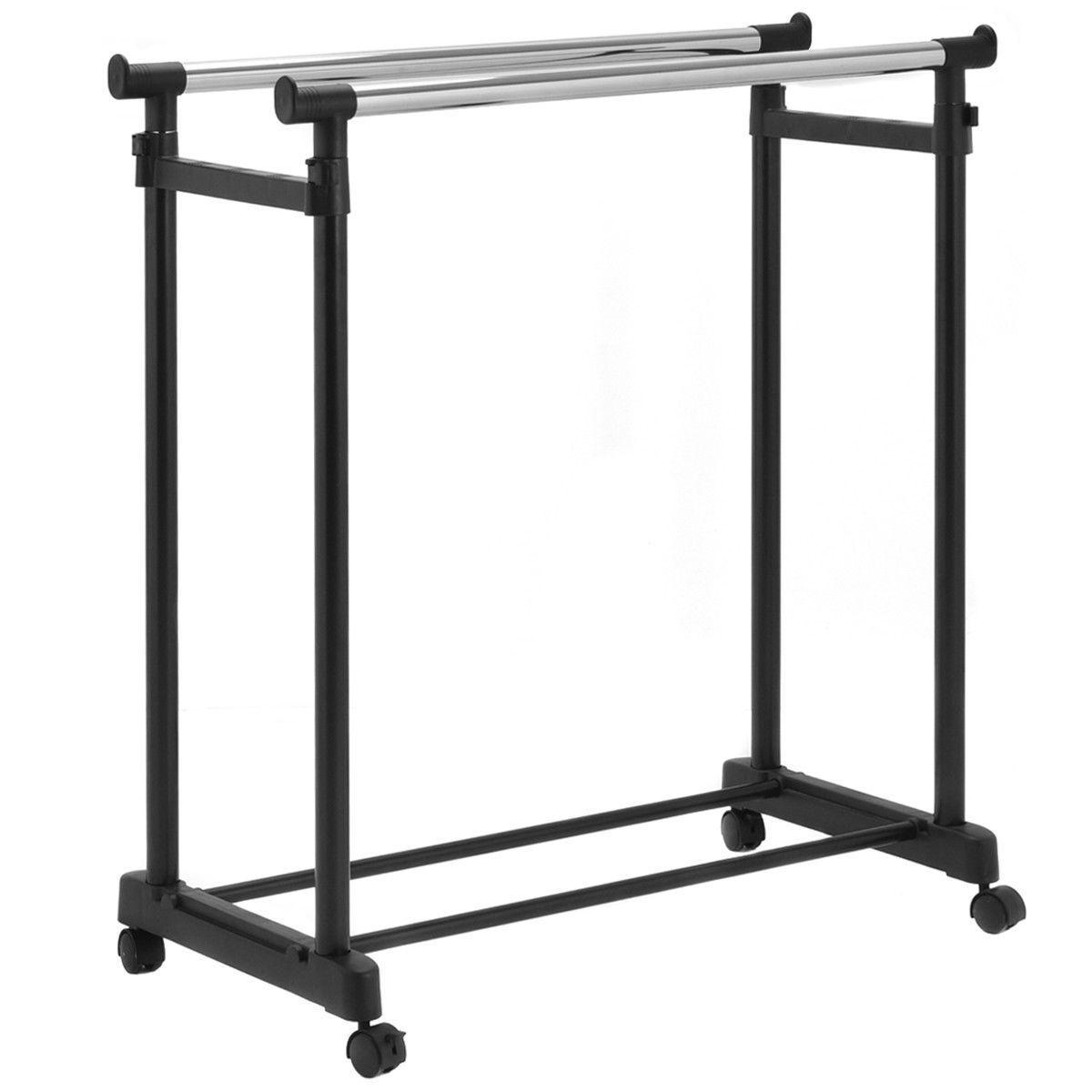 double rail adjustable garment rack
