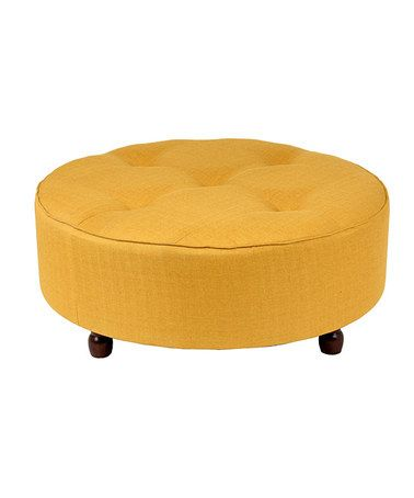 Take a look at this Apricot Round Ottoman by Privilege on #zulily ...