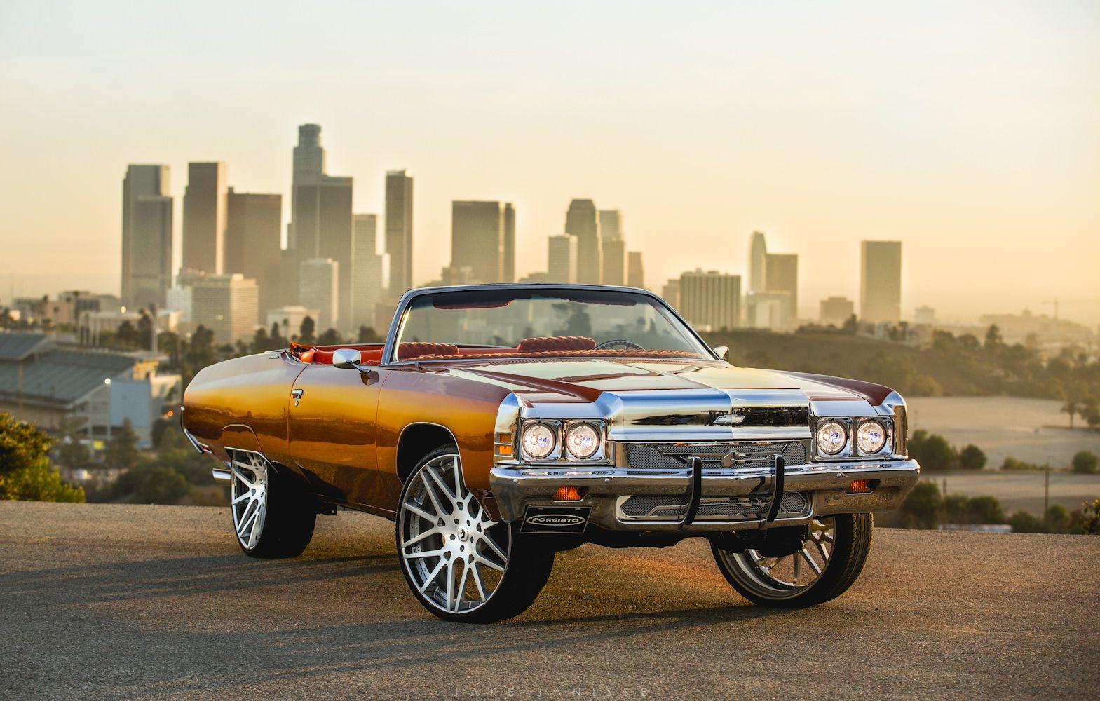 30 Inch Rims On Impala Tyga S Chevy Impala On 28 Forgiato S