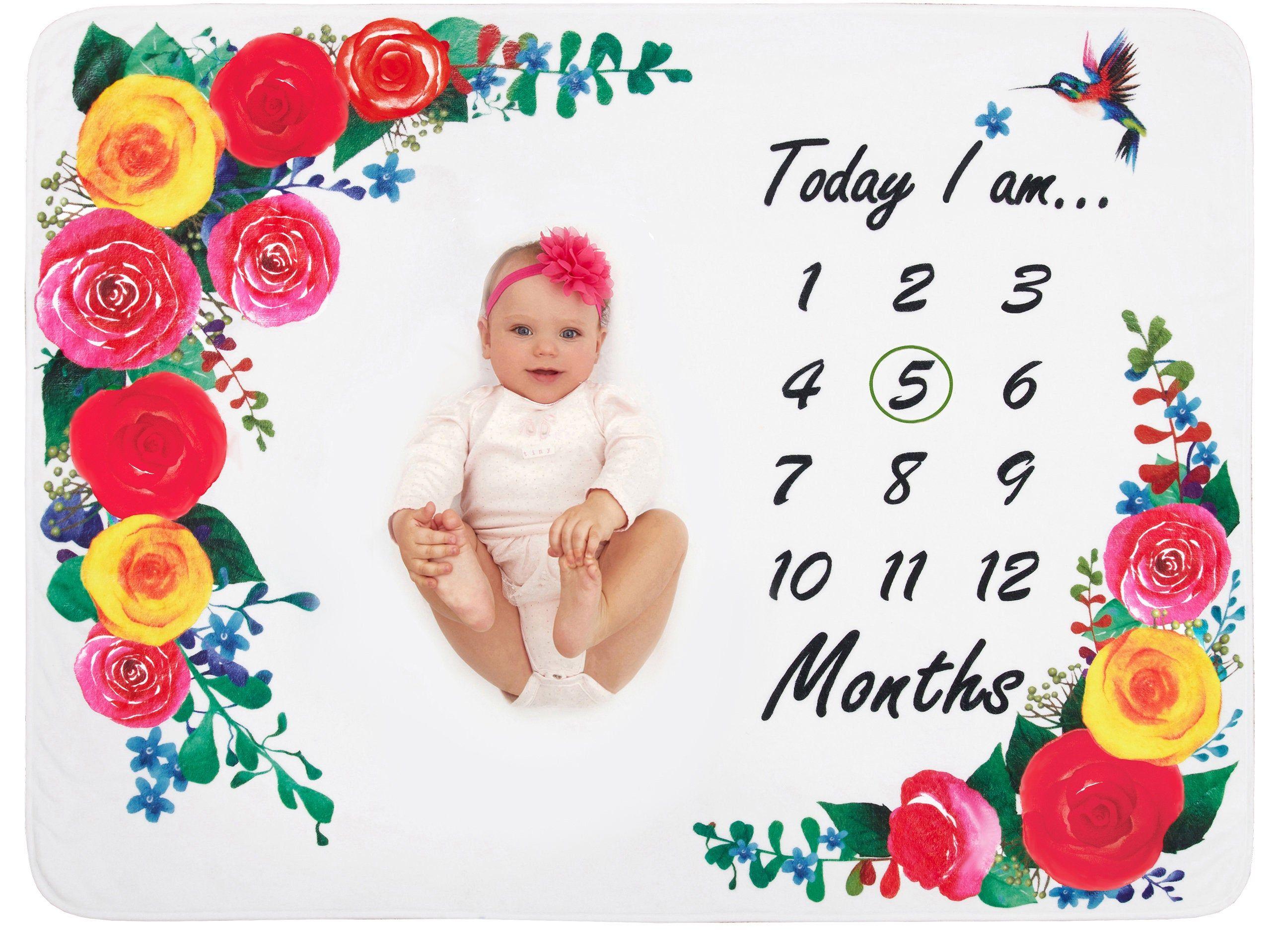 Milestone Blanket Girl Baby Month Blanket Baby Shower Gift Etsy In 2020 Baby Monthly Milestones Baby Month By Month Month Blanket Baby