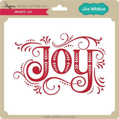 Download Ornate Joy | Christmas words, Christmas svg, Christmas colors