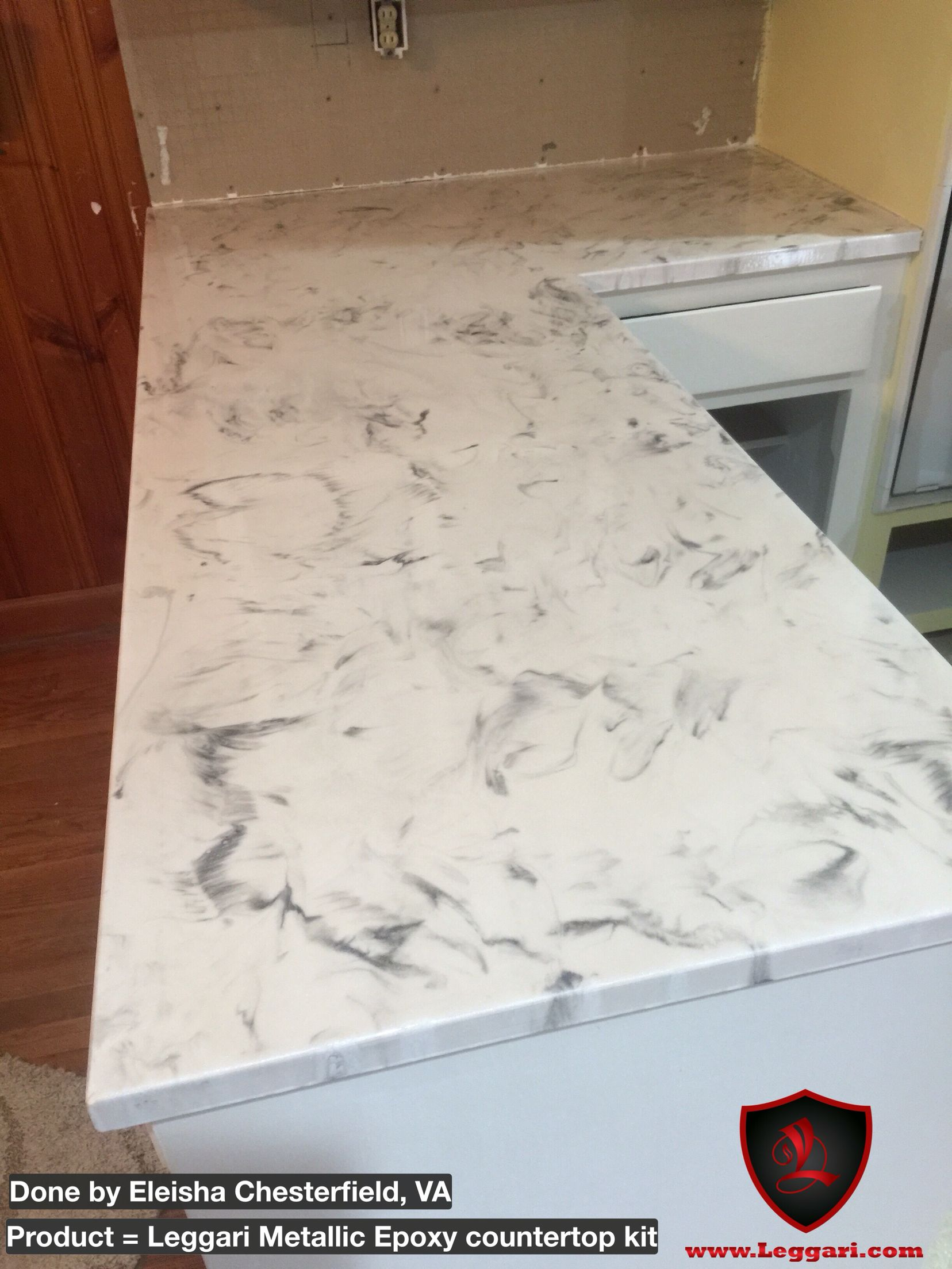 with a Leggari Products DIY Metallic Epoxy Countertop resurfacing ...