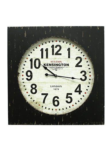 Clearance $34.99 Original Price $140.00Fetco Home Decor Feather Clock - Distressed Black
