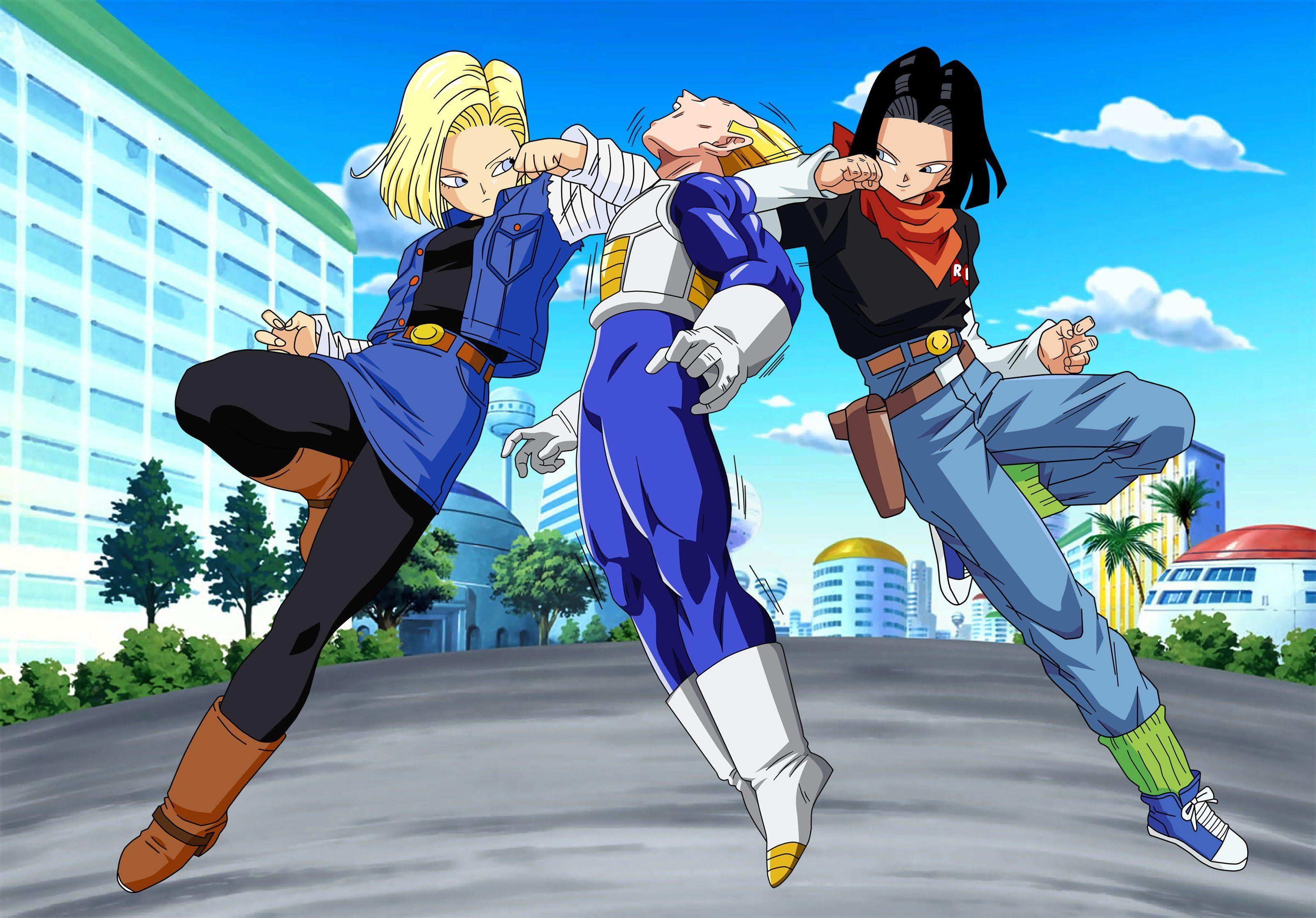 Download Hd Wallpapers Of 156182 Dragon Ball Dragon Ball Z Vegeta Android 18 Android 17 Free Download Hi Anime Dragon Ball Super Dragon Ball Dragon Ball Z