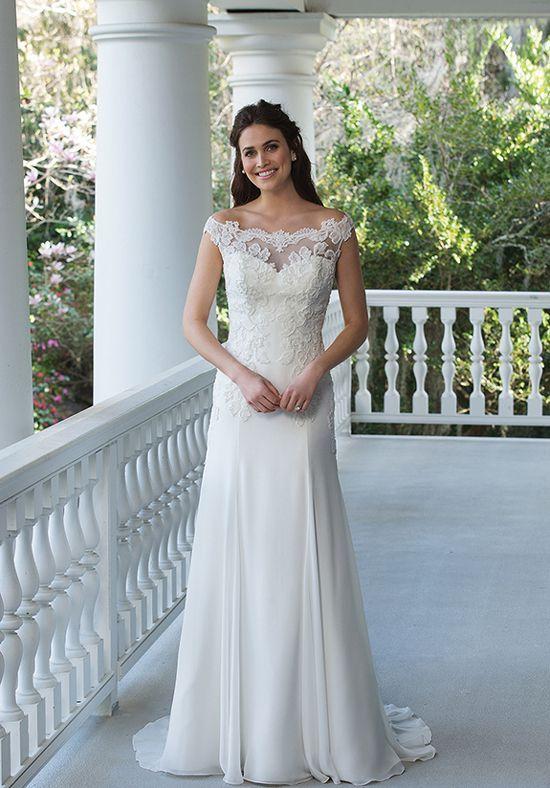 Wedding Dresses: Illustration Description Beaded Detailed A-Line ...