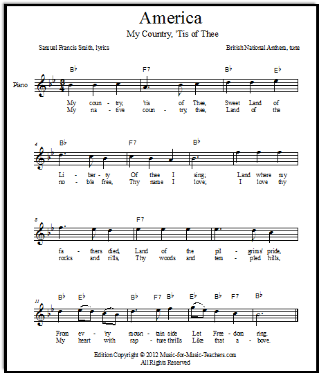 My Country 'Tis of Thee (Abolitionist Lyrics)