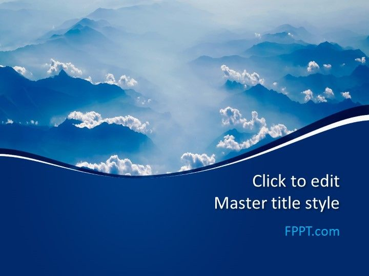 Free Blue Clouds Powerpoint Template Free Powerpoint Templates