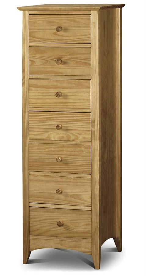 Gorgeous Tall Skinny Dressers On About Traditional Solid Pine Narrow Chest Of 7 Drawers Dresser