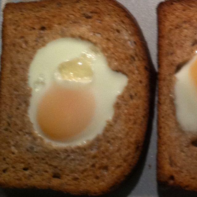 Bread. Cookie Cutter. Egg Bake.