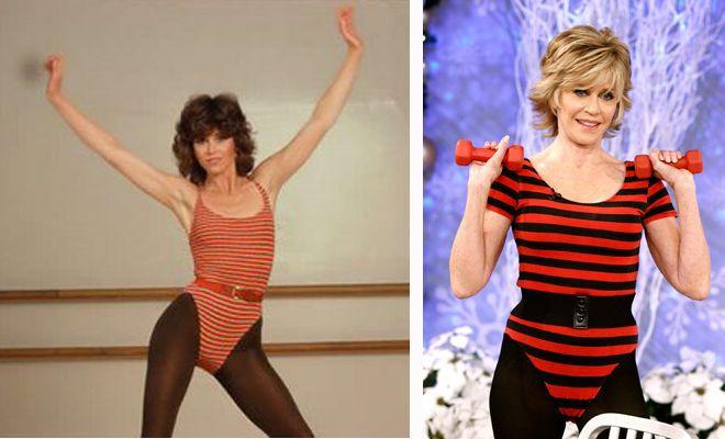 Jane Fonda vuelve al aerobic a los 73 años y luce... ¡espectacular!
