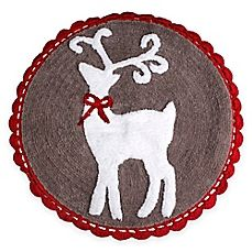 image of Reindeer Games 25-Inch x 25-Inch Bath Rug
