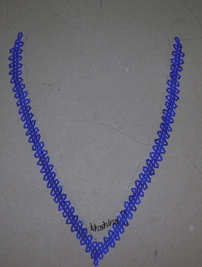 Base col haute couture bleu