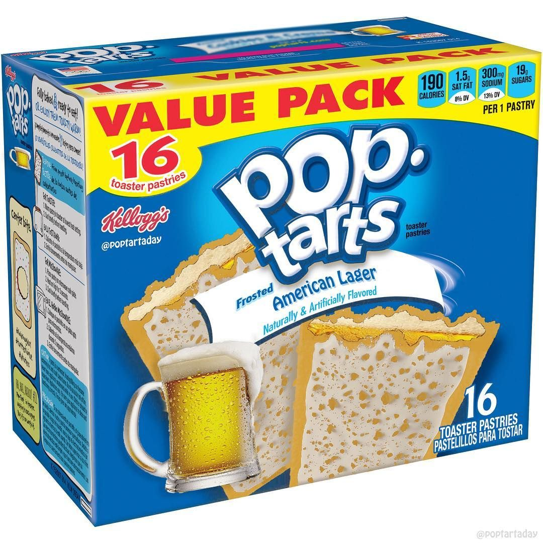 1 Breakfast Memes On Instagram Grab A Cold Brew With The Ones You Love On This Valentine S Day American Lager Pop Pop Tarts Weird Snacks Pop Tart Flavors