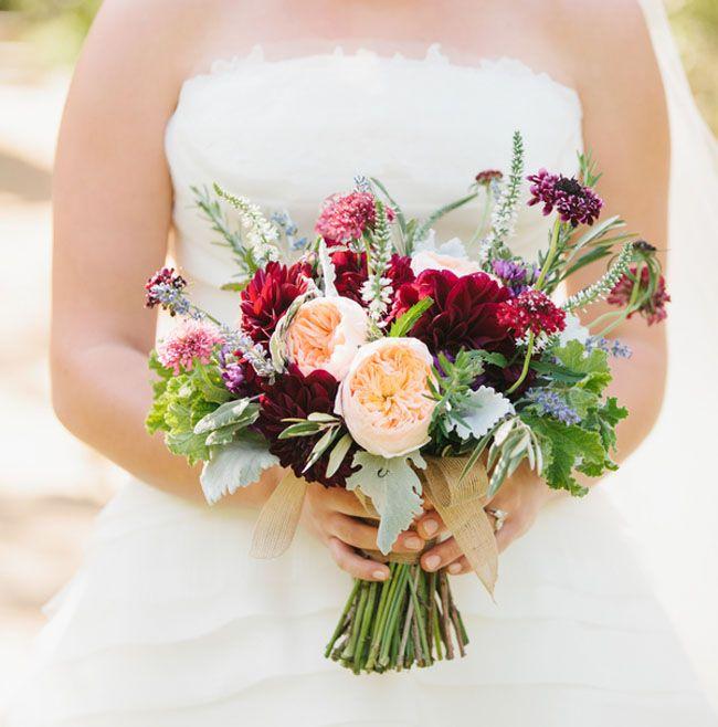 Fall California Vineyard Wedding Abigail + Steve Dusty miller