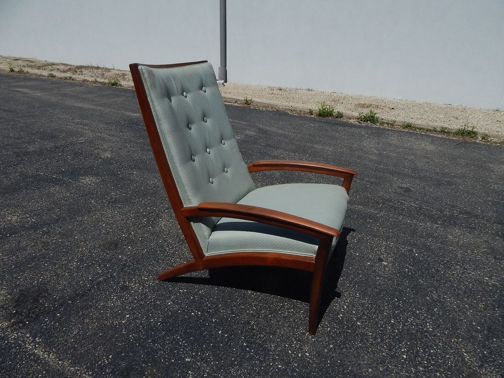 Mid Century Modern Barney Flagg For Drexel Parallel Lounge Chair